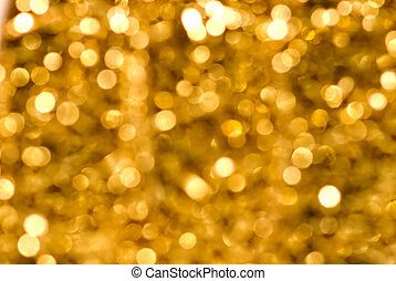 Golden Sparkles of defocused lights