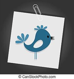 Bird on sheet