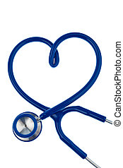 Stethoscope, heart-shaped - A stethoscope is in heart shape...