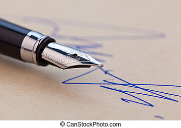 Fountain pen and signature - A fountain pen and a signature...