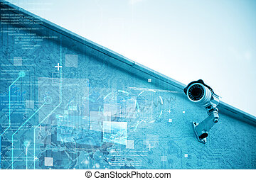 Security camera - Modern security camera for surveillance