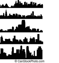 City skyline - vector