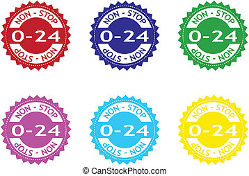 """""""0-24"""" colorful stickers"""