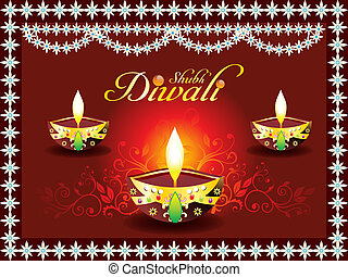 abstract diwali concept with deepak