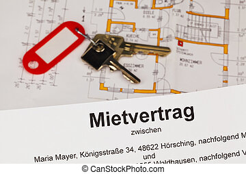 Lease in German - A lease and a plan in the German language....