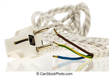 A power cable with plug - A power cable with power connector...