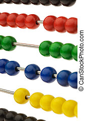 Abacus with colored beads - An abacus with colored beads as...