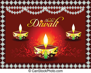 abstract diwali concept with deepak - bstract diwali concept...