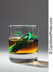 car, teclas, vidro, Álcool