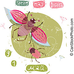 Bug - vector illustration of the May beetle Can be used with...