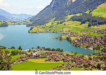 Lungern village in Switzerland