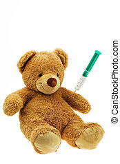 Teddy Bear with injection - S Teddy gets an injection....