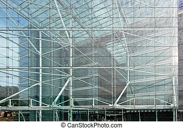 Glass facade - Big glass facade at modern business building