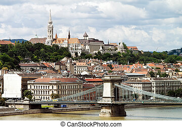 Hungary, Budapest, Castle Hill and Castle