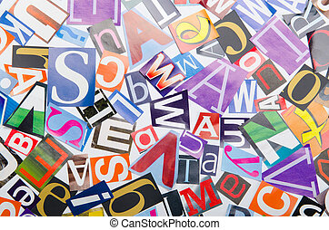 Cut letters from newspapers and magazines