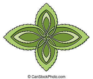 Mint celtic knot - Green celtic knot design representing...