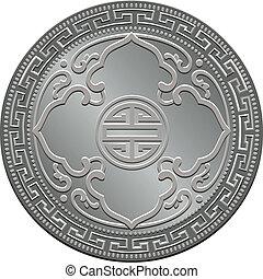 vector Great Britain trade dollar silver coin