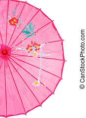 closeup pink asian umbrella