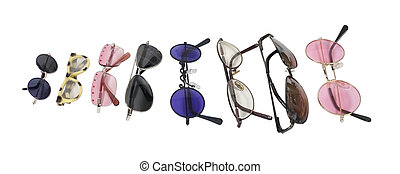 Variety of Colorful Glasses - A variety of colorful glasses...
