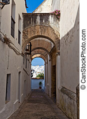 Spain, Andalucia, Vejer de la frontera. In the Old Town