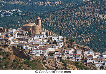 Iznajar in Andalucia, Spain - The small village of Iznajar...
