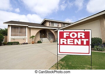 Home for rent - A home is being rented during tough economic...