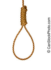 Noose - An isolated noose shows the method of execution or...