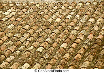 Rustic pan tiled roof - Sunkissed clay tile roof in spain