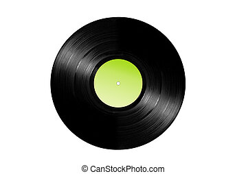 Vinyl record album - An old vinyl 33 LP album isolated on...