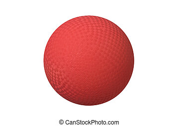 Dodge ball - A classic dodgeball isolated on white shows the...