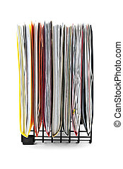 Folders with papers - File folders with documents in...