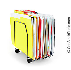 File folders with papers - File folders with documents in...