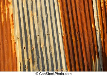 Rusted Corrugated Metal Siding