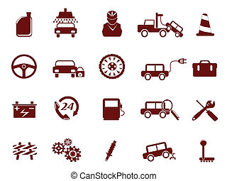 Auto Car Service Icon - Auto Car Repair Service Icon for...