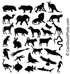 Collection of silhouettes of animals3 - Collection of...