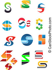 Alphabet letter S - Set of alphabet symbols and elements of...