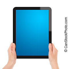 Holding Touch Screen Tablet
