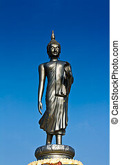 Life style Buddha statue in blue sky