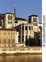 The apse of the Saint Jean cathedral in Lyon city