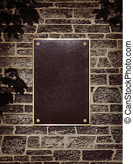 parete, cornice, metallo, segno