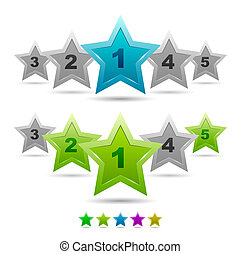 Star rating vector icons - Vector illustration for your...
