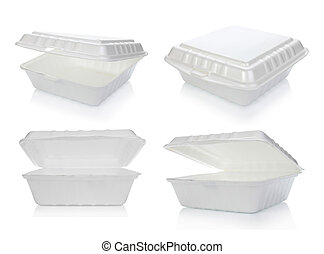 styrofoam, alimento, Recipiente