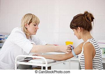 Procedure of  blood capture