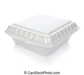 Styrofoam of food container