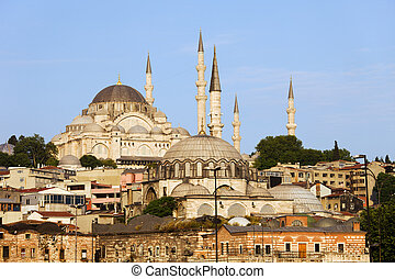 City of Istanbul in Turkey historic architecture, on the...