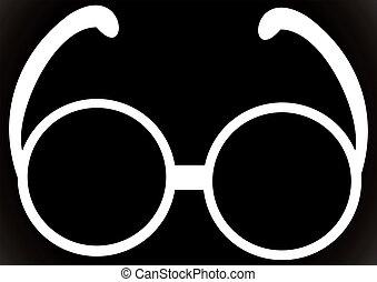 Sunglasses. Black glasses