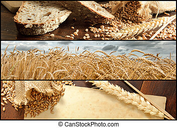 Banners - Wheat and Bread, Shallow DOF