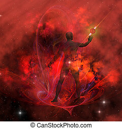 Human Spirit 3 - The essence and whole body of the black...