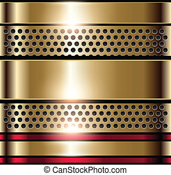 shiny background - Shiny metallic background gold, vector
