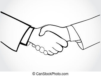 Strong hand shake. The contract conclusion
